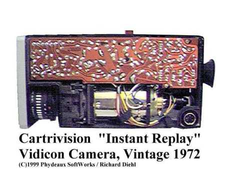 Cartrivision Instant Replay Vidicon camera