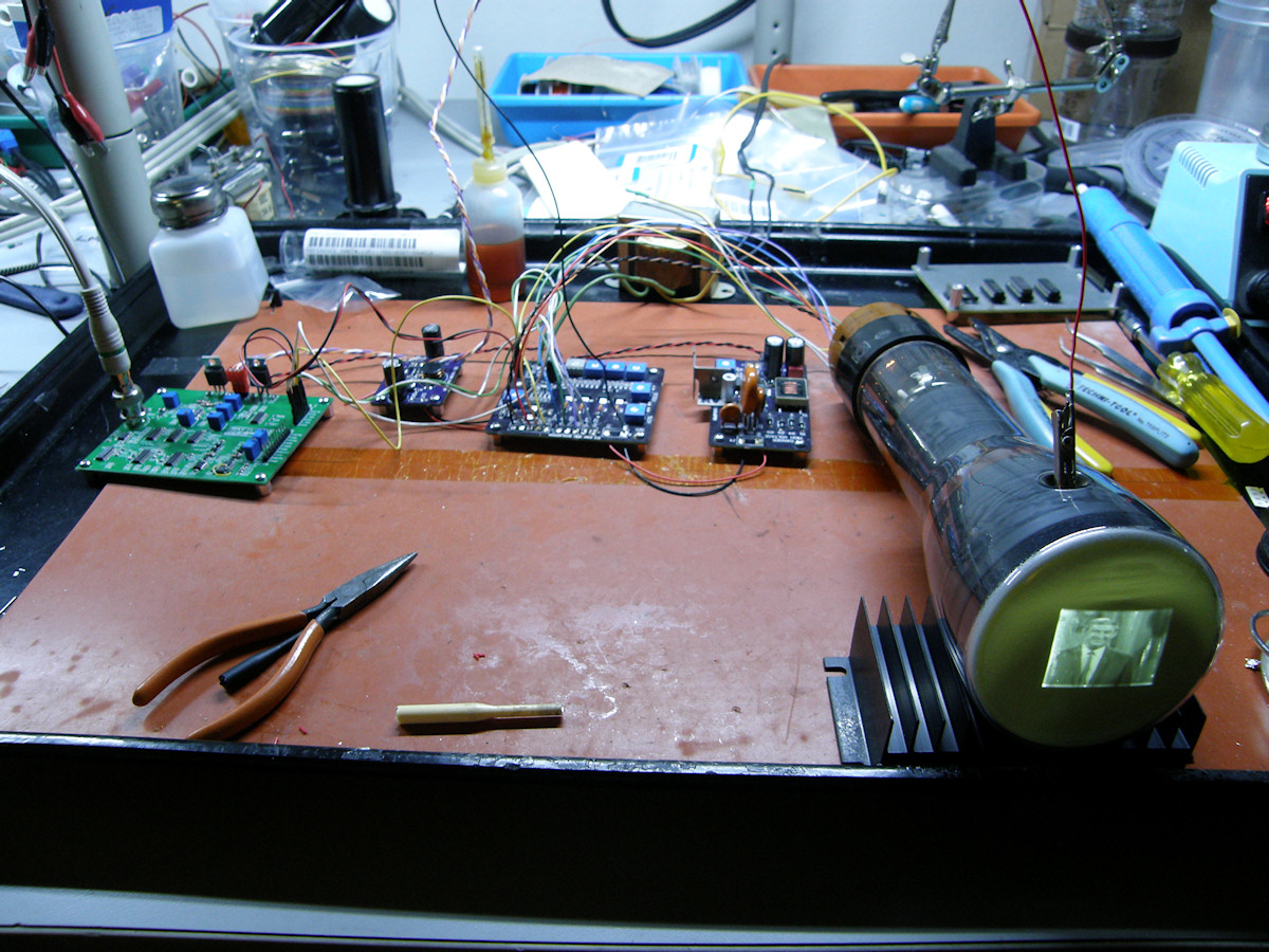 Labguys World Electrostatic Cathode Ray Tube Project 1 Crt Screen Schematic Tiny Tv Mark 2 And Erics 3 Boards Driving A 3jp7 Radar Display 20141212