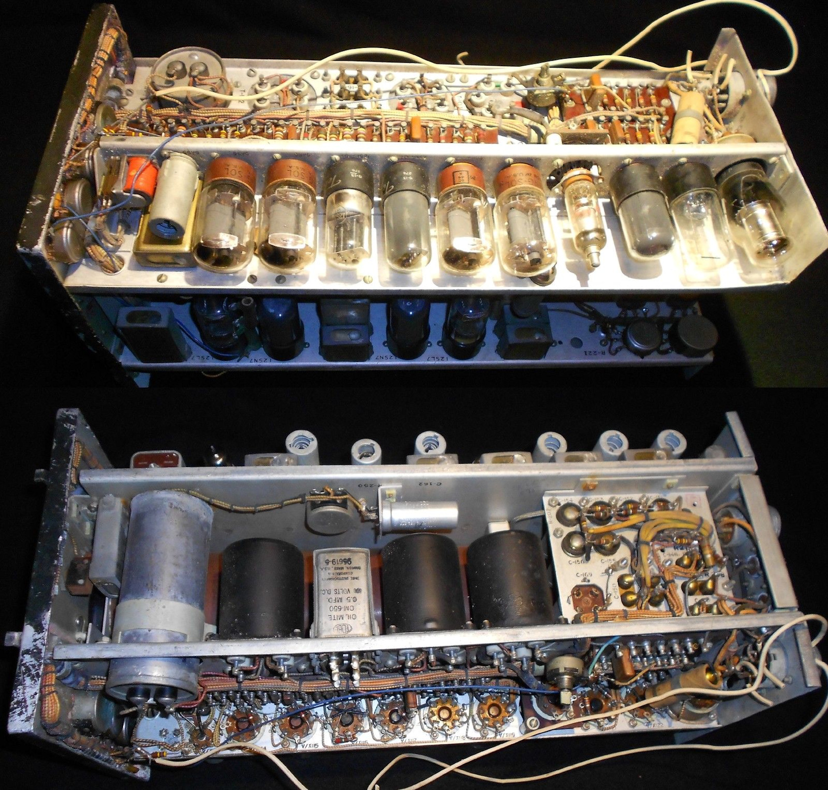 military cameras in views of inside wiring harness
