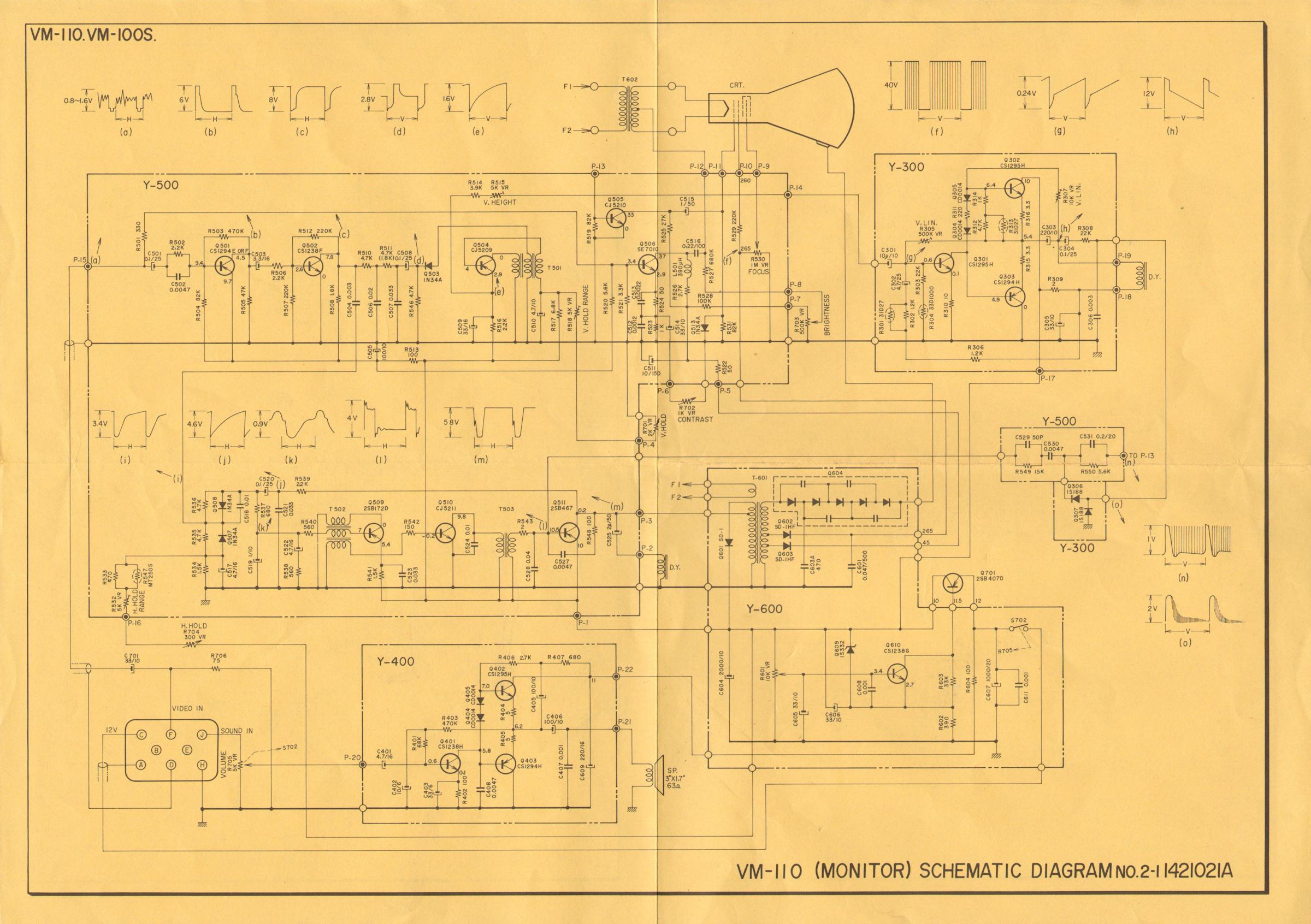 Akai VM-100, 3 inch CRT BW video monitor circa 1972 20130803