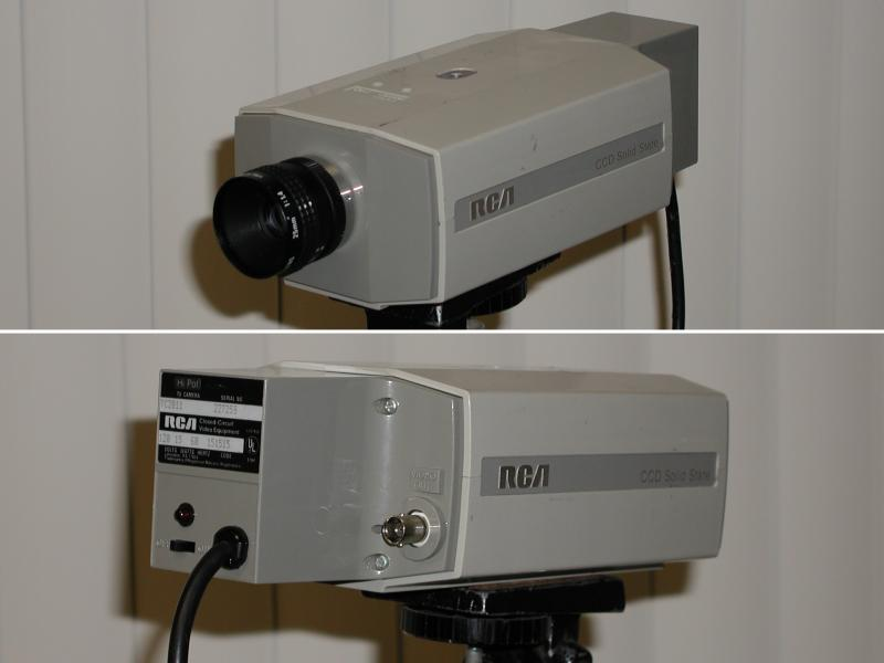Labguy 39 s world 1980 rca tc 2811 first generation ccd - Camera de surveillance factice ...