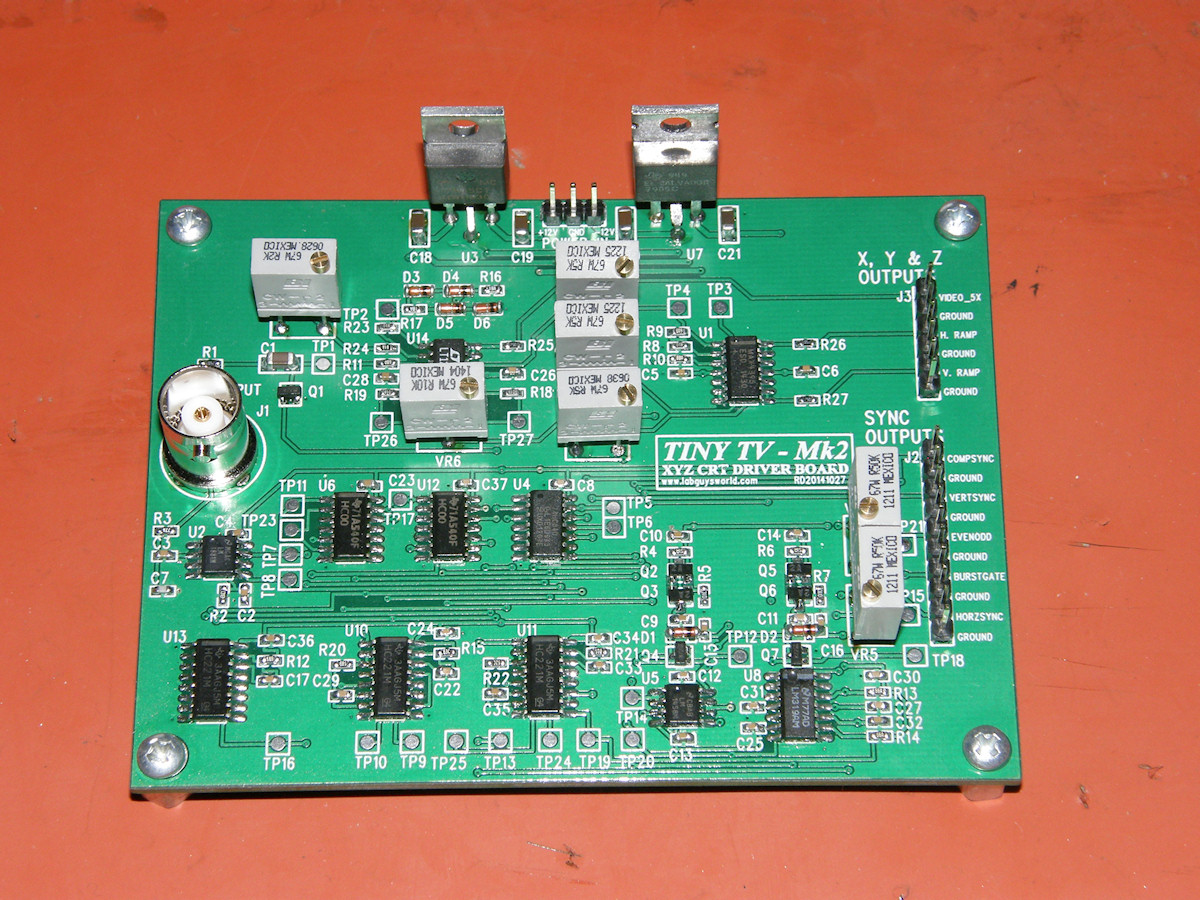 Labguys World Tiny Tv Board Mark 2 Circuit Boards Smt Assembly For Pcb China Printed