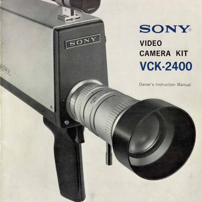 LabGuy's World: Sony VCK-2400 Videocorder Kit Operator's Manual