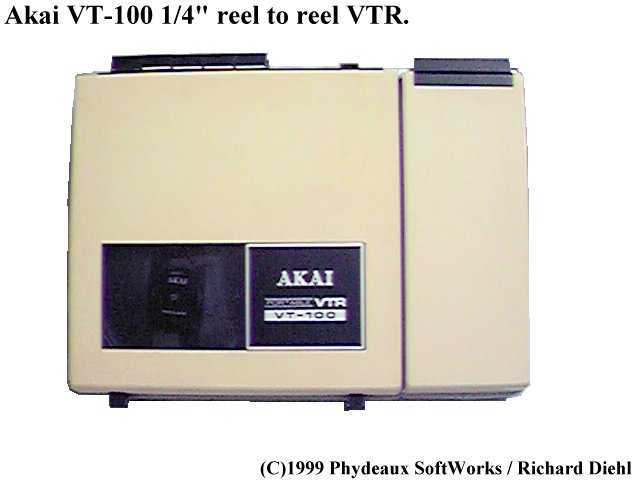 Akai VT-100 ~ 1/4 Reel To Reel VTR