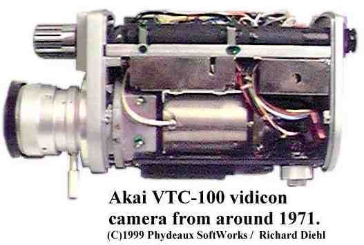 Akai VC-100 vidicon camera internal view