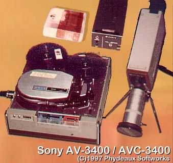 Sony AV/AVC-3400 B/W EIAJ portapack and vidicon camera