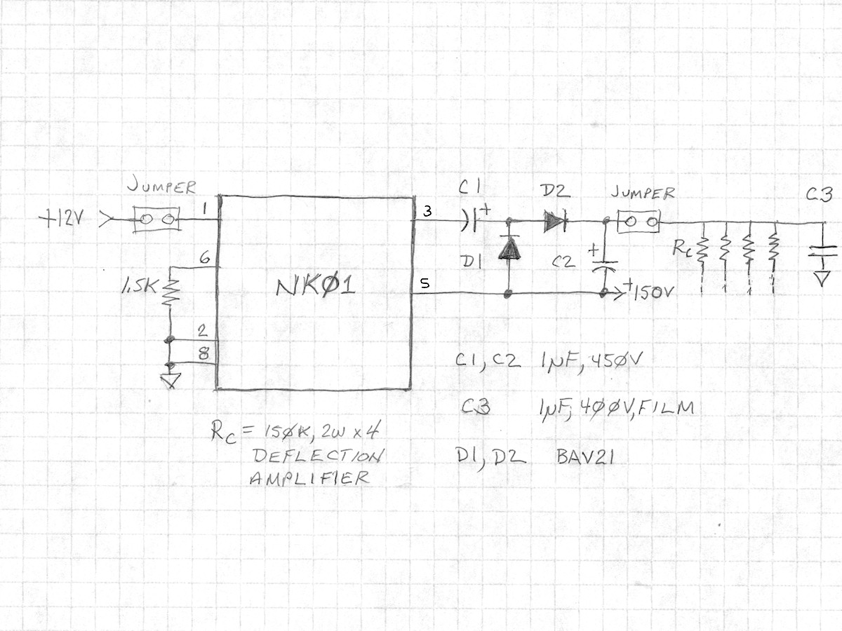 Labguys World Electrostatic Crt Deflection Amplifier Monitor Schematic Diagram Datasheet Application Note Nk01 High Voltage Power Supply And The Cute Little Monster It Replaces 20150221