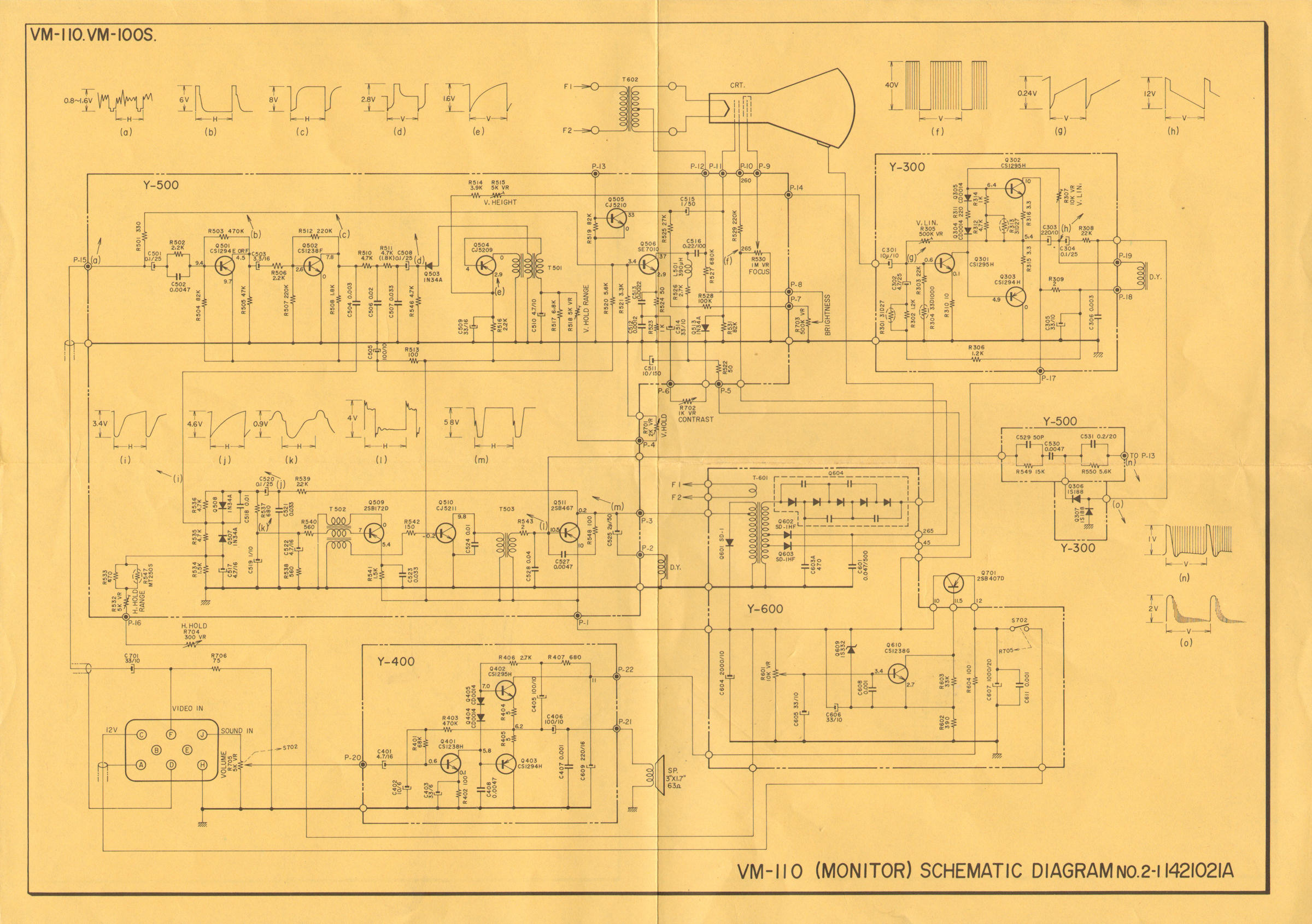 Labguys World Goldmark I Field Sequential Color Tv Project Crt Schematic Diagram Akai Vm 100 3 Inch Bw Video Monitor Circa 1972 20130803